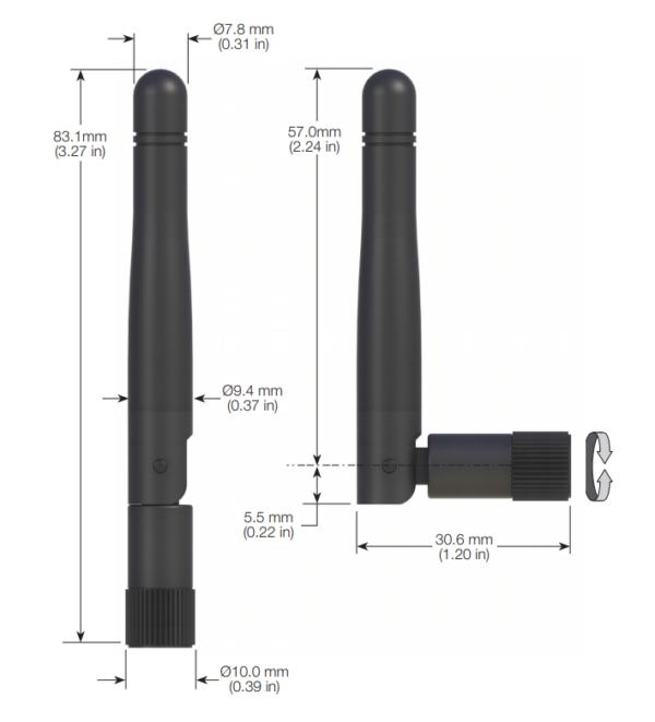 Antena Limpet-especificaciones
